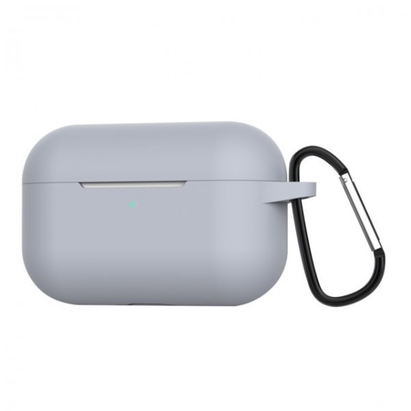 Θήκη ακουστικών silicone για Apple Air Pods Pro 3 Hook Charging Box grey
