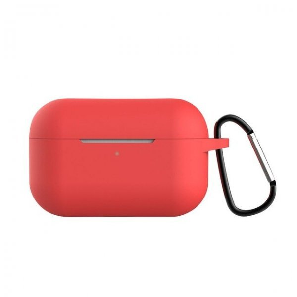 Θήκη ακουστικών silicone για Apple Air Pods Pro 3 Hook Charging Box red