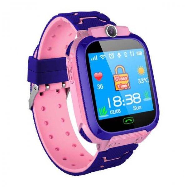 Smartwatch A21 Για Παιδιά, SOS Επείγουσα Κλήση, Συμβατό με iOS και Android - Ροζ