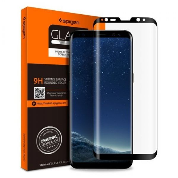 Spigen Galaxy S8 Screen Protector GLAS.tR Full Cover Glass