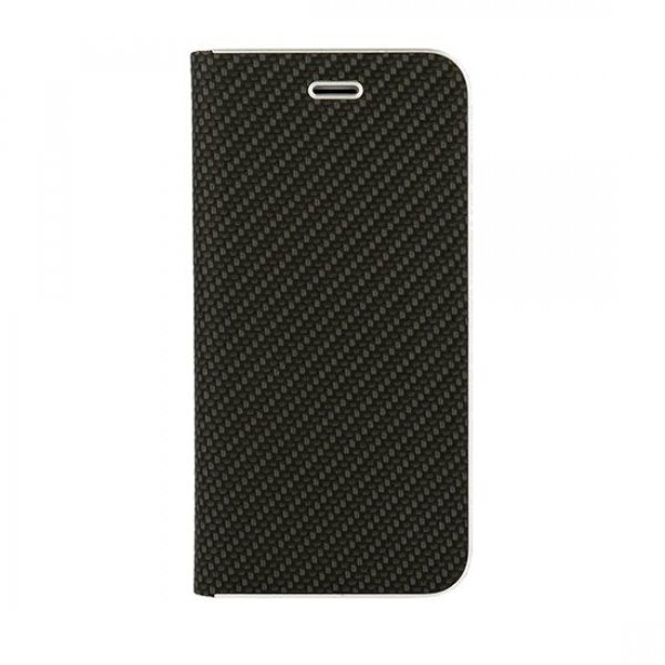Vennus Book Carbon Case για Huawei P20 με  Stand -Θήκη Πορτοφόλι Μαύρη