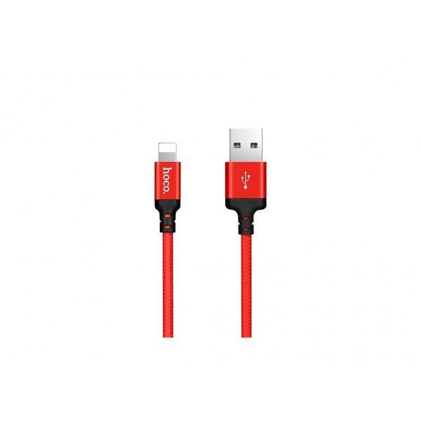 Hoco πλεχτό Καλώδιο X14 για Lightning to Usb 1m Κόκκινο