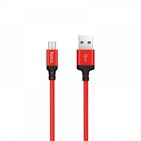 Hoco πλεχτό Καλώδιο X14 για Micro USB to Usb 1m Κόκκινο