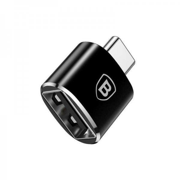BASEUS Μετατροπέας Αντάπτορας TYPE-C σε USB,OTG - ΜΑΥΡΟ