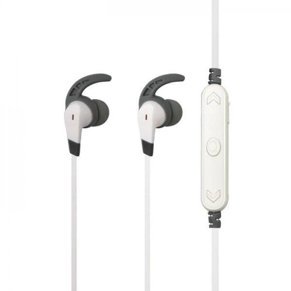 Remax Wireless Sports Earphone RB-S25 Wireless In-Ear Bluetooth 4.2 Headphones Headset 70 mAh, white