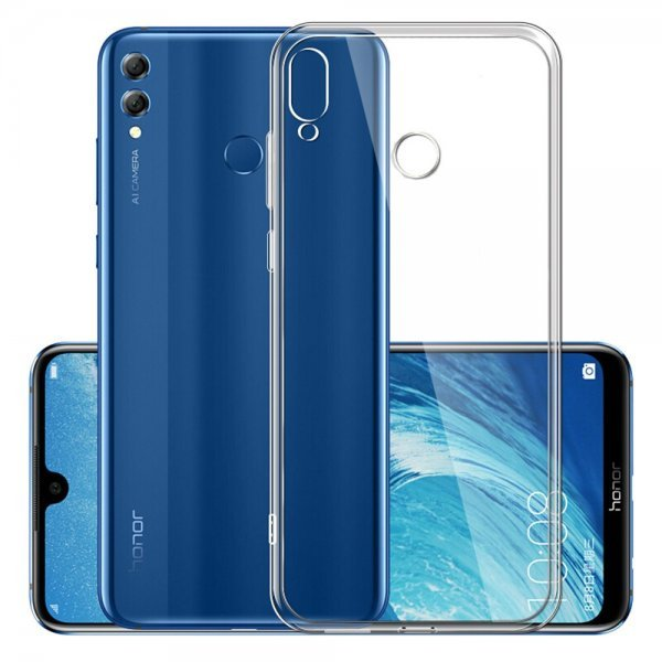 OEM Ultra Clear 0.5mm Case Gel TPU Cover για Huawei Honor 8X, Διάφανη