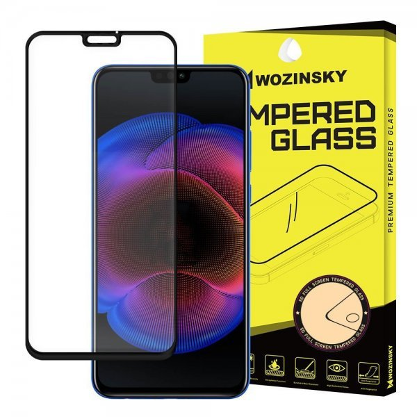 Wozinsky Tempered Glass Full 9Η Glue Super Tough Screen Protector Full Coveraged with Frame Case Friendly για Huawei Honor 8X