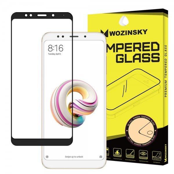 Wozinsky Tempered Glass Full Glue Super Tough Screen Protector Full Coveraged with Frame Case Friendly για Xiaomi Redmi 5, Μαύρο