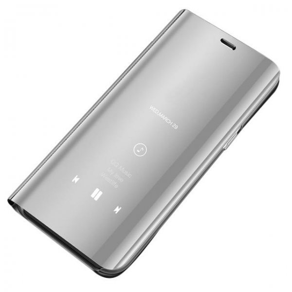 Clear View Case cover with Display for Huawei Mate 20 Lite Silver