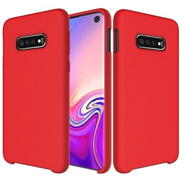 Silicone Case Soft Flexible Rubber Cover for Samsung Galaxy S10e, Red