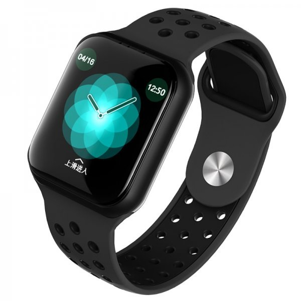 F8 IP67 Αδιάβροχο Smartwatch Fitness Tracker Black Grey