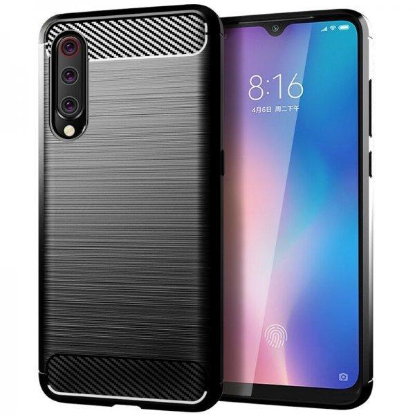 OEM Carbon Case Flexible Cover TPU Case for Xiaomi Mi 9 Lite / Mi CC9 black