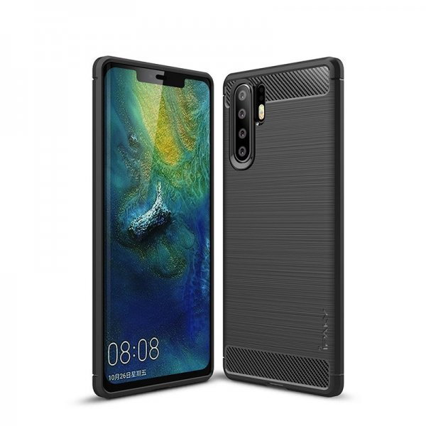 iPaky Slim Carbon Flexible Cover TPU Case for Huawei P30 Pro black