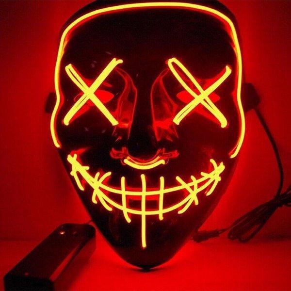 Μάσκα με φωτισμό Led Neon, Πορτοκαλί