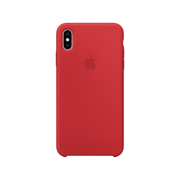 iPhone Xs Silicone Case (red)