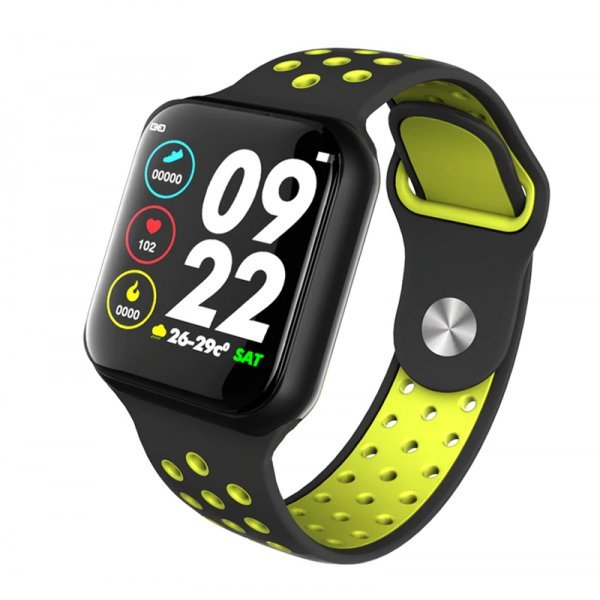 F8 IP67 Αδιάβροχο Smartwatch Fitness Tracker Black Green